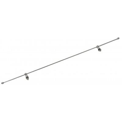 Металлический пруток для стеклянных полок 50 см c креплениями