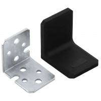 Уголок металлический с пластиковой заглушкой BRN (Турция) черный