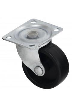Ролик 340 поворотный, черный, пластиковый d=38 мм, h=46 мм HTS (Турция) до 43 кг