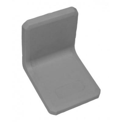 Уголок металлический с пластиковой заглушкой BRN (Турция) серый