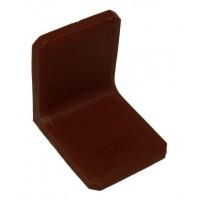 Уголок металлический с пластиковой заглушкой BRN (Турция) коричневый
