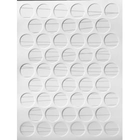 Заглушка WEISS под конфирмат - смкл. 3479 глянцевый белый с полосами