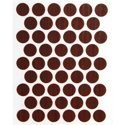 Заглушка WEISS под конфирмат - самоклейка 8620 Chestnut