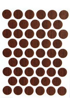 Заглушка WEISS под конфирмат - самоклейка 9163 Ecco Walnut