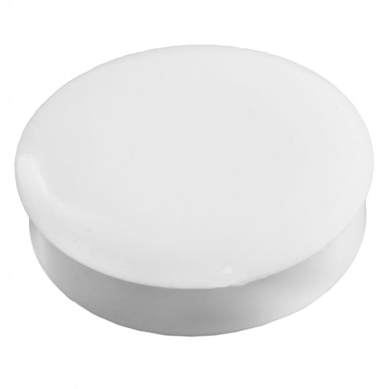Заглушка под петлю пластиковая d=35 мм белая (Польша)