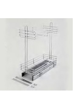 Карго  Çağdaş 200 мм нижнего крепления, полного выдвижения, с доводчиком (15*55*50 см) хром